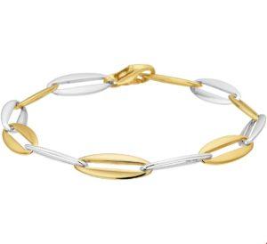 14 krt bicolor gouden dames armband anker 7