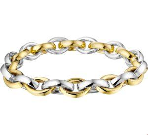 14 krt bicolor gouden dames armband anker 9