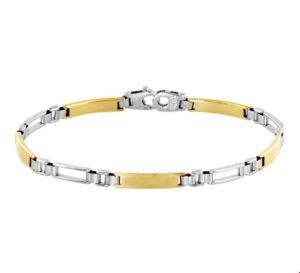 14 krt bicolor gouden dames armband rolex 4