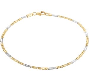 14 krt bicolor gouden dames armband valkenoog 1