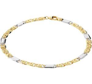 14 krt bicolor gouden heren armband valkenoog 4