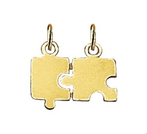 14 krt geelgouden unisex breekplaatjes puzzel glanzend  van het sieradenmerk BloomGold model 2284434007409