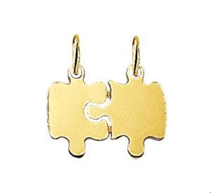 14 krt geelgouden unisex breekplaatjes puzzel glanzend  van het sieradenmerk BloomGold model 2284434013222