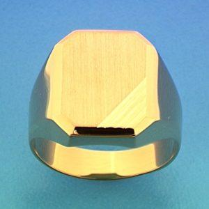 14 krt geelgouden heren graveerring mat gediamanteerd gediamanteerd  van het sieradenmerk BloomGold model 2284434015659