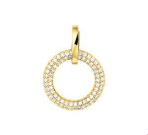14 krt geelgouden dames hanger diamant 0.25ct h si glanzend  van het sieradenmerk BloomGold model 2284434016307