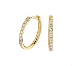 14 krt geelgouden dames klapoorringen diamant 0.23ct (2x0.115ct) h si glanzend  van het sieradenmerk BloomGold model 2284434020952