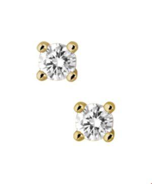 14 krt geelgouden dames oorknoppen diamant 0.50 ct. glanzend  van het sieradenmerk BloomGold model 2284434016593