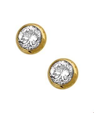 14 krt geelgouden dames oorknoppen diamant 0.50 ct. glanzend  van het sieradenmerk BloomGold model 2284434016594