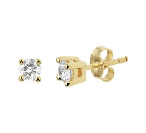 14 krt geelgouden dames oorknoppen diamant 0.50ct (2x0.25ct) h si glanzend  van het sieradenmerk BloomGold model 2284434020869