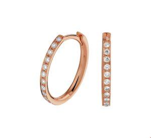 14 krt roségouden dames klapoorringen diamant 0.23ct (2x0.115ct) h si glanzend  van het sieradenmerk BloomGold model 2284434401097