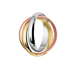 14 krt tricolor gouden dames hanger tricolor glanzend  van het sieradenmerk BloomGold model 2284434300552