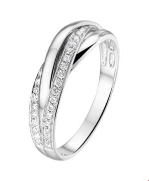 14 krt witgouden dames ring diamant 0.21ct h si glanzend  van het sieradenmerk BloomGold model 2284434103895