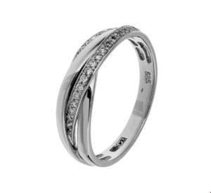 14 krt witgouden dames ring diamant 0.21ct h si glanzend  van het sieradenmerk BloomGold model 2284434104051