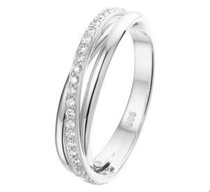 14 krt witgouden dames ring diamant 0.22ct h si glanzend  van het sieradenmerk BloomGold model 2284434104471
