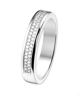 14 krt witgouden dames ring diamant 0.25ct h si glanzend  van het sieradenmerk BloomGold model 2284434101413