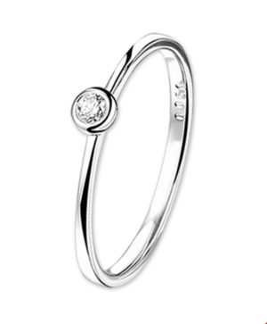 14 krt witgouden dames ring diamant 0.25ct h si glanzend  van het sieradenmerk BloomGold model 2284434103114