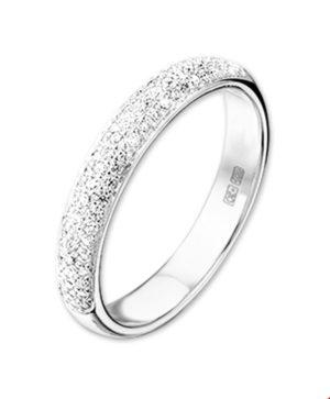 14 krt witgouden dames ring diamant 0.25ct h si glanzend  van het sieradenmerk BloomGold model 2284434103115