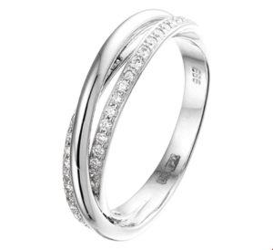 14 krt witgouden dames ring diamant 0.29ct h si glanzend  van het sieradenmerk BloomGold model 2284434103900