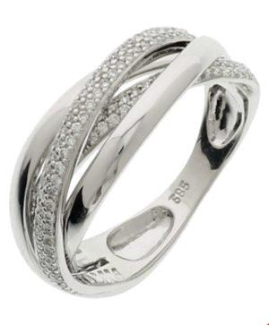 14 krt witgouden dames ring diamant 0.36ct h si glanzend  van het sieradenmerk BloomGold model 2284434103911