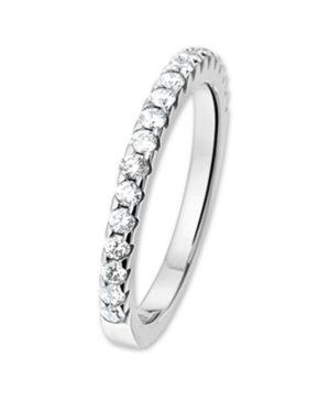 14 krt witgouden dames ring diamant 0.50ct h si glanzend  van het sieradenmerk BloomGold model 2284434101991