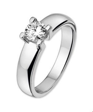 14 krt witgouden dames ring diamant 0.50ct h si glanzend  van het sieradenmerk BloomGold model 2284434102001
