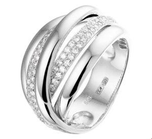 14 krt witgouden dames ring diamant 0.51ct h si glanzend  van het sieradenmerk BloomGold model 2284434104175